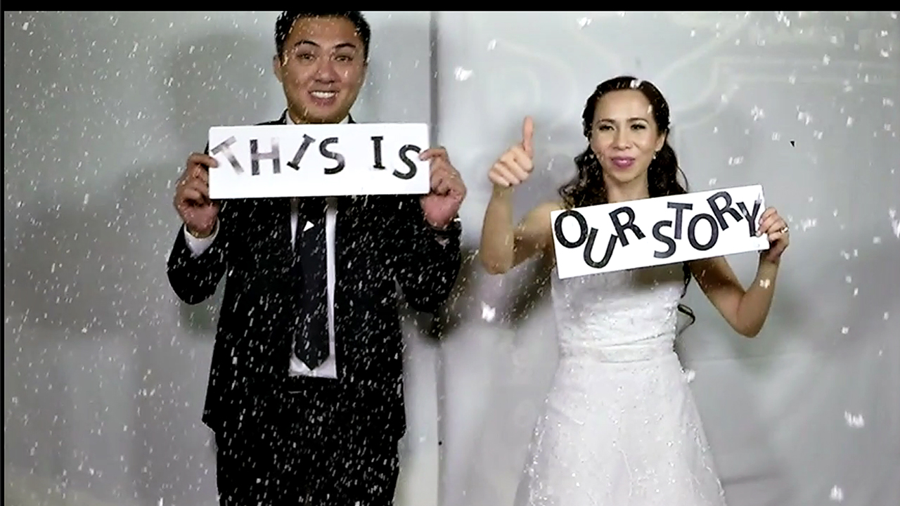 Sambo and Joy Wedding slow motion videobooth Taguig Philippines